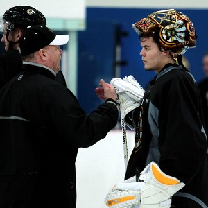 Tuukka Rask and Claude Julien