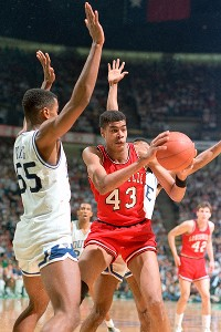 Pervis Ellison scored 25 points in the 1986 championship game against Duke.