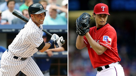 Derek Jeter and Yu Darvish