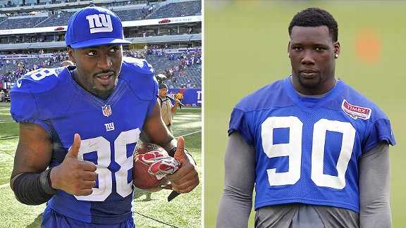 Hakeem Nicks and Jason Pierre-Paul