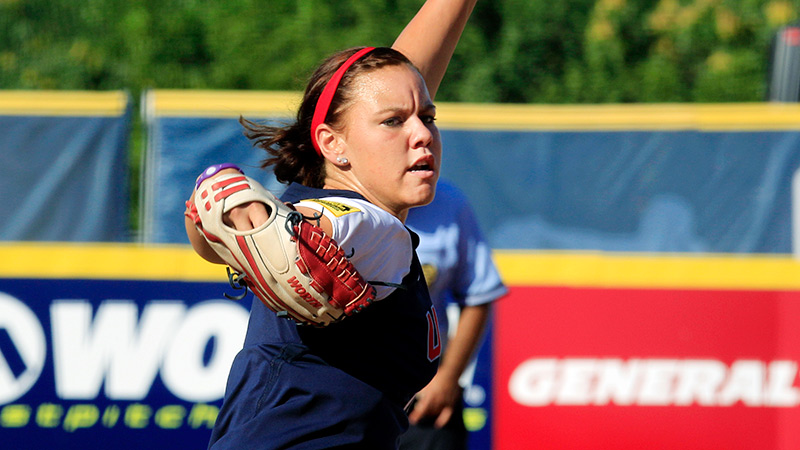 Keilani Ricketts won't be wearing the red, white and blue this summer after a dispute with USA Softball caused her to part ways with Team USA.