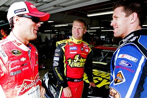 Kevin Harvick, Clint Bowyer and Carl Edwards