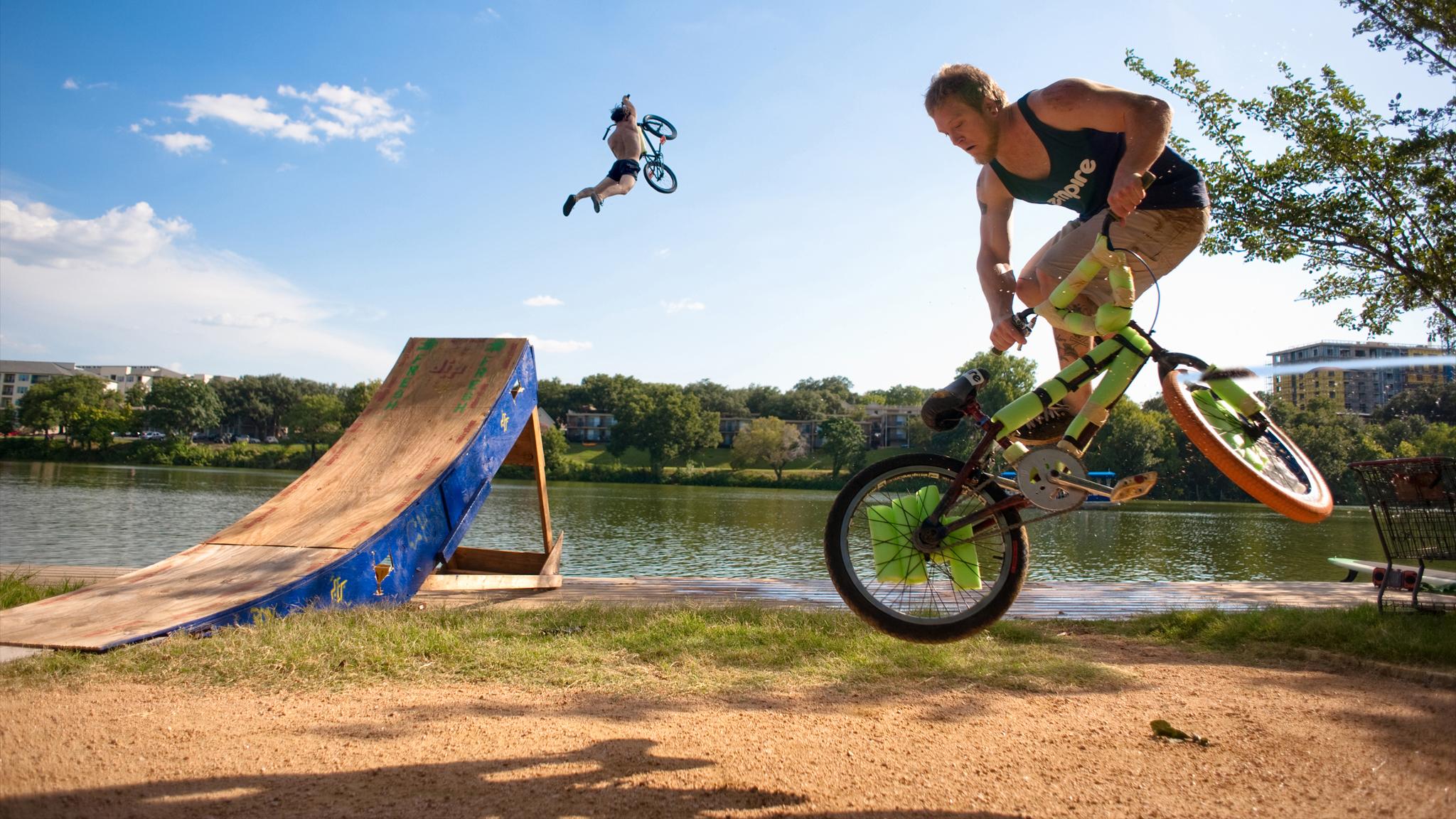 Lake jumping