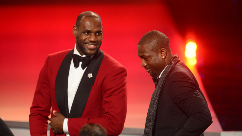 LeBron James and Dwyane Wade at The 2013 ESPYS.