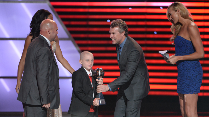 Jack Hoffman with Tate Donovan and Kerri Walsh Jennings during The 2013 ESPYS.