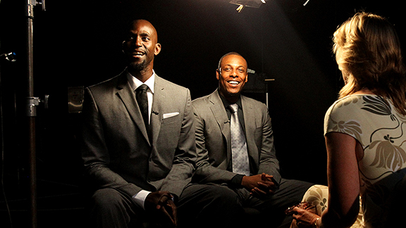 Kevin Garnett and Paul Pierce