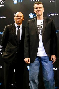 Jason Kidd and Mikhail Prokhorov