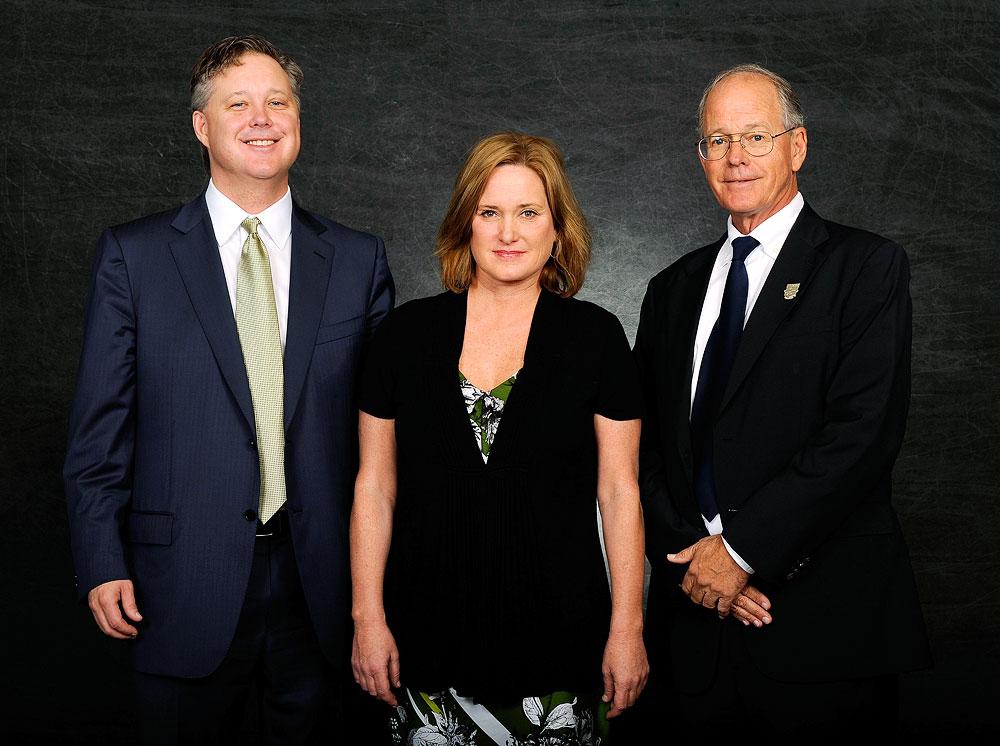 Brian France, Lesa France Kennedy and Jim France