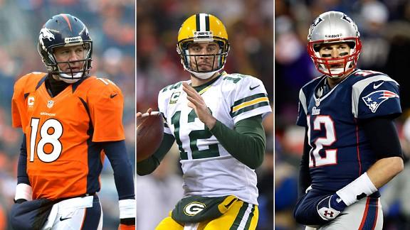 Peyton Manning, Aaron Rodgers & Tom Brady