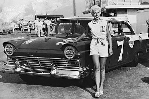 Before the modern NASCAR era, Nadine Poor was a mechanic, crewman and crew chief for her husband, Bill, in the Convertible Series in the late 1950s.
