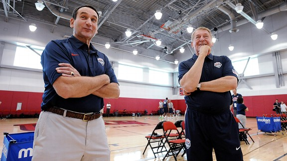 Mike Krzyzewski and Jerry Colangelo