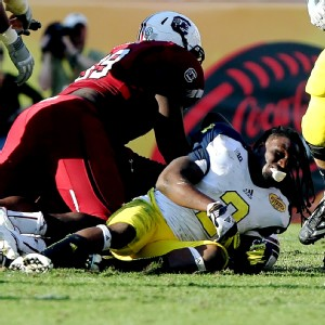 Jadeveon Clowney and Vincent Smith