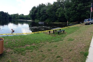 Police search Malones Pond in Bristol, Conn.