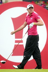 Stacy Lewis played the back nine in 5 under and finished tied for third with a 67.