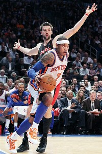 Carmelo Anthony and Andrea Bargnani