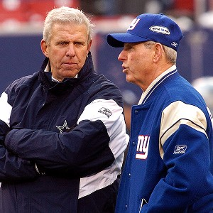 Bill Parcells and Tom Coughlin