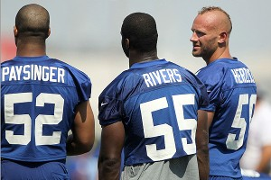 Spencer Paysinger, Keith Rivers and Mark Herzlich
