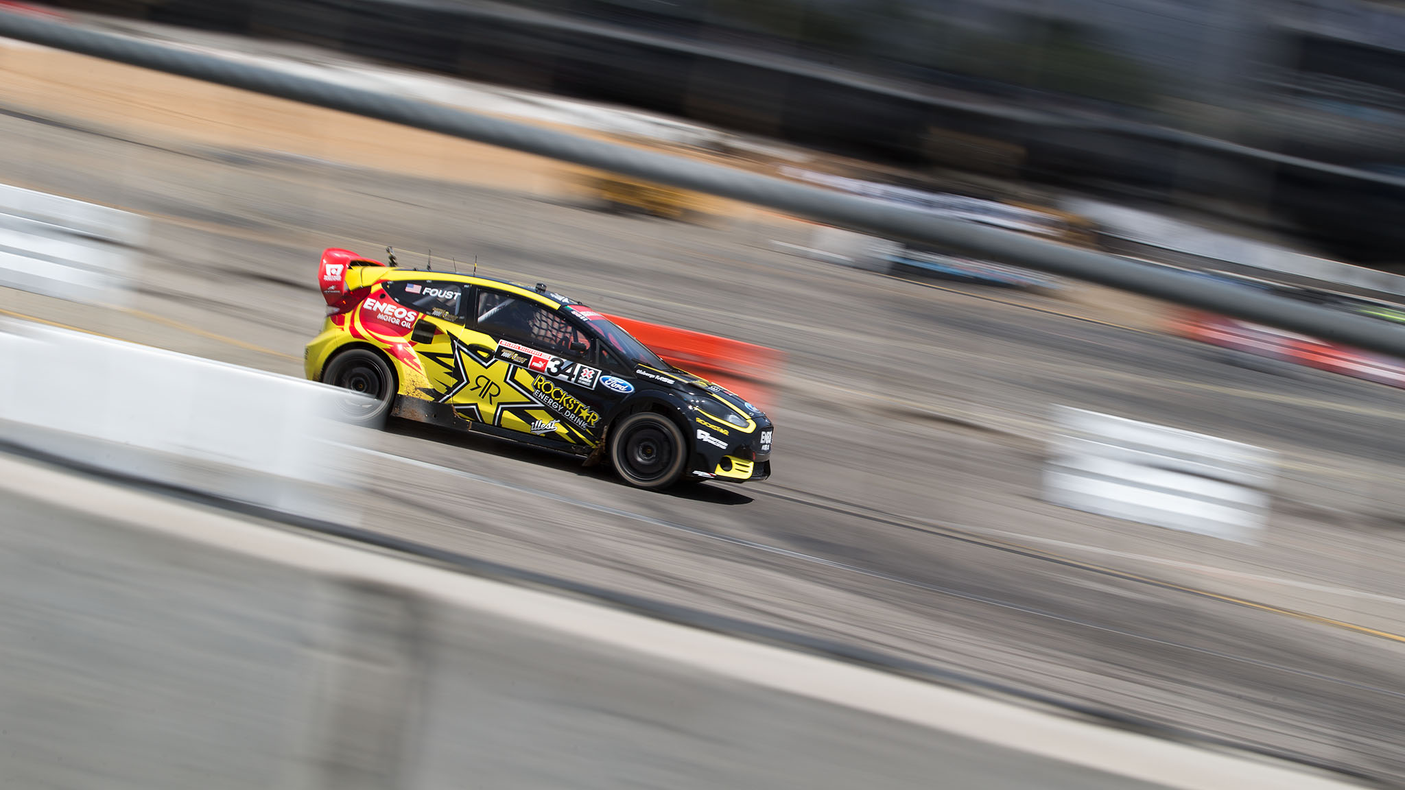 Tanner Foust now has nine X Games medals, including the silver he picked up in the smash-'em-up Ford RallyCross final just one day after winning gold in the X Games debut of Gymkhana GRID.