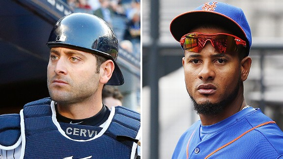 Francisco Cervelli and Jordany Valdespin