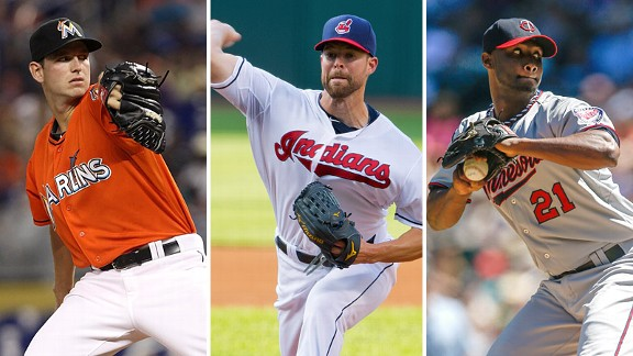 Jacob Turner, Corey Kluber and Samuel Deduno