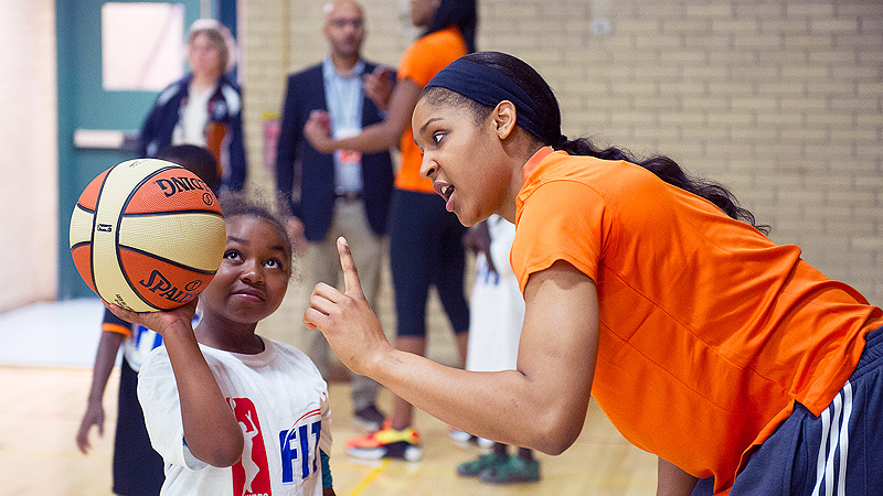 Maya Moore loves to work with and inspire kids, which she'll do again at her academy on Aug. 25.
