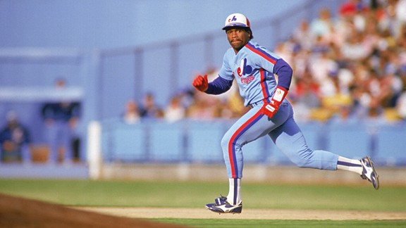 Tim Raines #30 of the Montreal Expos