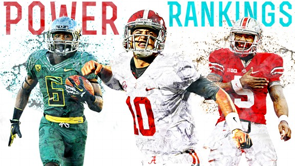 College Football Power Rankings illustration