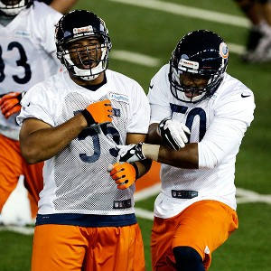 Lance Briggs, James Anderson, Jon Bostic bears linebacker