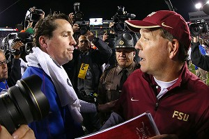 Jimbo Fisher and Will Muschamp