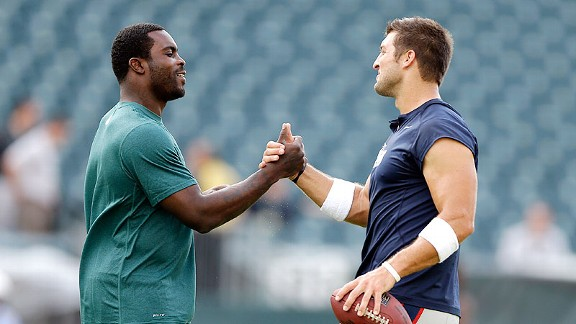 Michael Vick and Tim Tebow