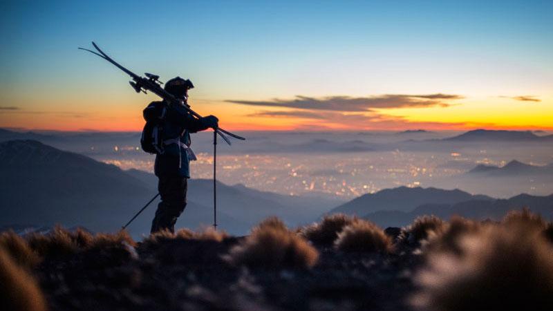 La Parva's alpine tundra over Santiago's city lights as part of Team Chile's winning portfolio in the Eye of the Condor contest.