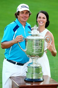 Jason Dufner and his wife Amanda