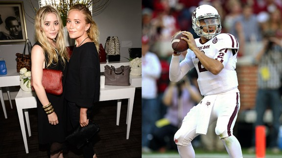 Ashley and Mary-Kate Olsen, Johnny Manziel