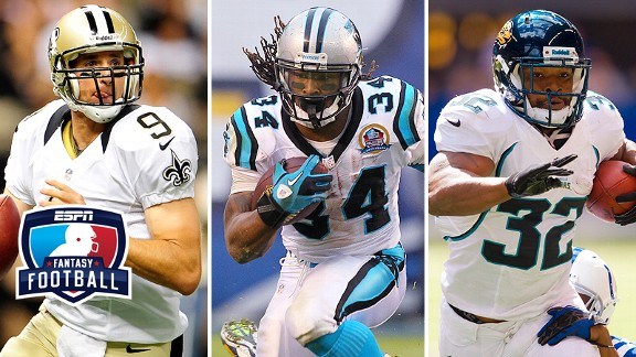 Drew Brees, Maurice Jones-Drew and DeAngelo Williams