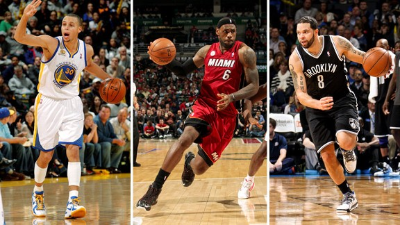 Stephen Curry, LeBron James, Deron Williams
