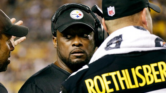 Mike Tomlin, Ben Roethlisberger of the Pittsburgh Steelers