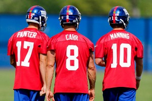Curtis Painter, David Carr, Eli Manning