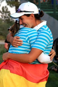 Carlota Ciganda was way off her game Friday but was one of Europes heroes Saturday, sinking a putt on 18 to clinch her four-ball match.