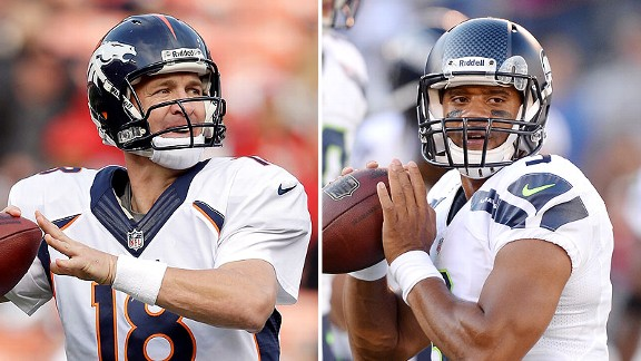 Peyton Manning and Russel Wilson
