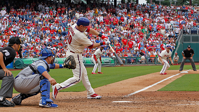 Michael Young #10 of the Philadelphia Phillies