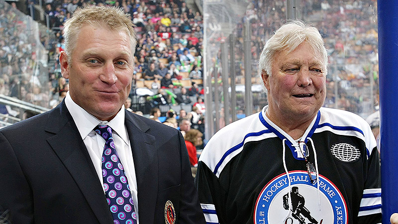 Hall of Famer Bobby Hull, considered one of the greatest hockey players of all time, skated alongside his brother Dennis for eight seasons with the Chicago Blackhawks. His son Brett scored the third-most goals in NHL history with 741. Bobby and Brett are the only father-son duo to each score 1,000 points, and both have been inducted into the Hall of Fame.