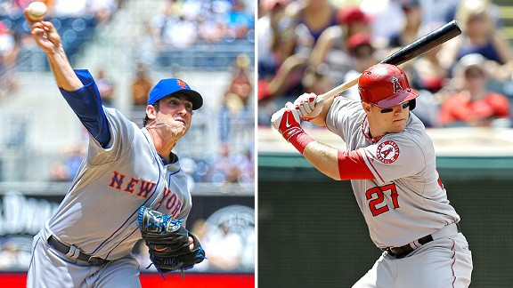Matt Harvey and Mike Trout