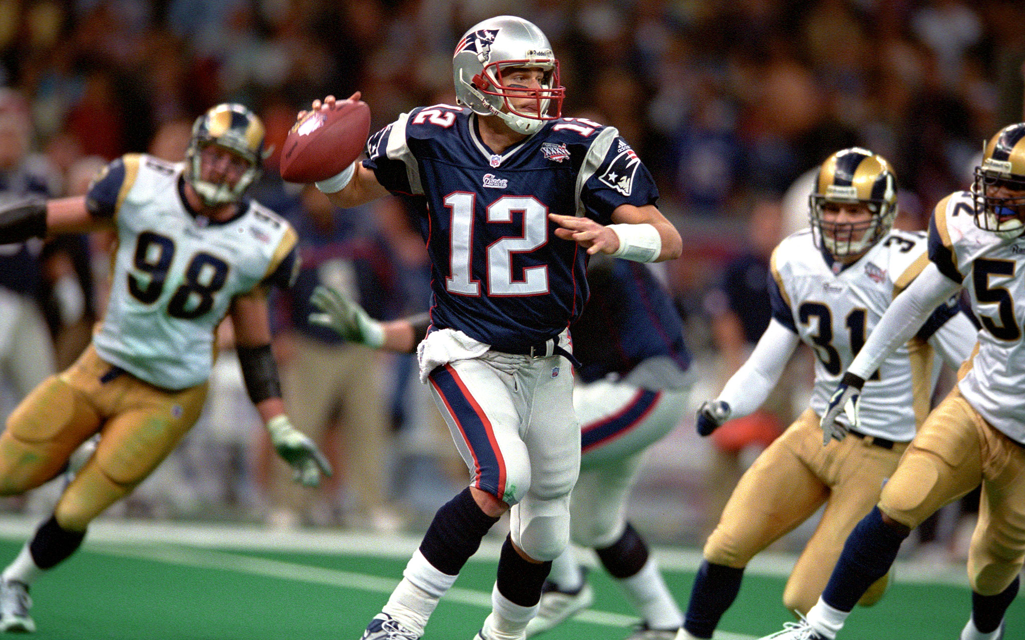 1 Feb 3 2002 Super Bowl Xxxvi Patriots 20 Rams 17