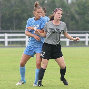 By the time the Tar Heels scrimmaged against Wofford, freshman Joanna Boyles played more minutes than anyone on the roster.