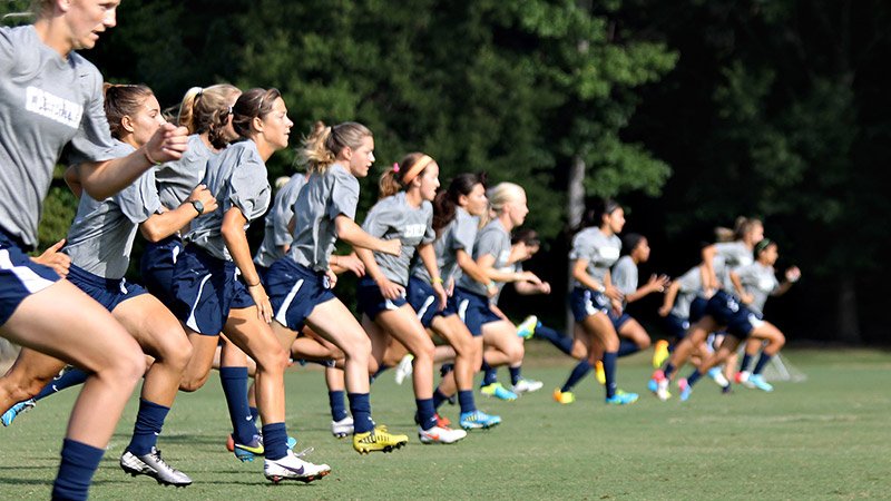 August is when the North Carolina women's soccer team's pursuit of a championship begins, knowing that the work put in during late summer will help translate into a title in December.