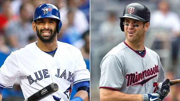Jose Bautista and Joe Mauer