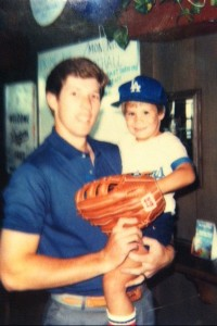 Orel Hershiser with Skip Schumaker