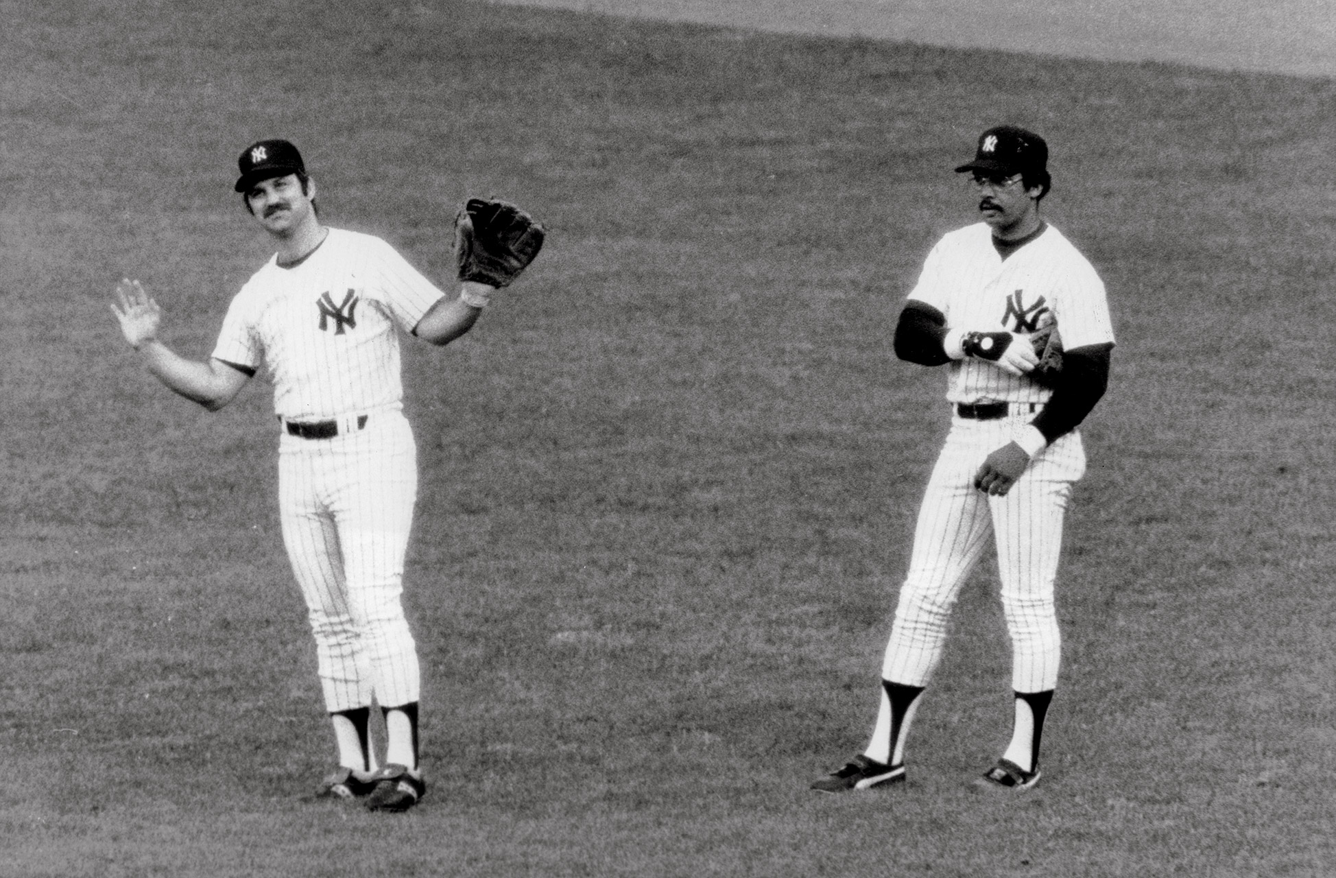 Thurman Munson and Reggie Jackson