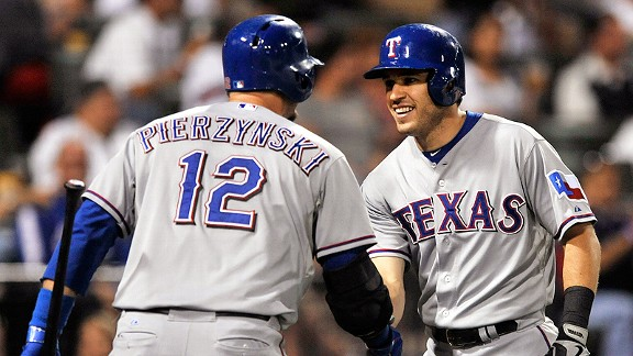 Ian Kinsler and A.J. Pierzynski