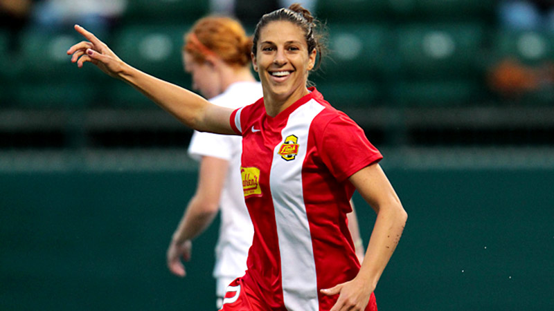 Carli Lloyd says she's become more of a leader this season, and she has a specific destination in mind for the Western New York Flash.